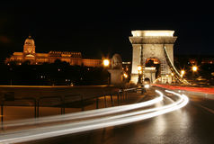 Night lights in budapest. Royalty Free Stock Image