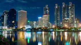 Night Lights Building in Bangkok Stock Image