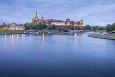 Night lights on the castle and river Royalty Free Stock Photo