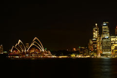 Night lights in CBD and opera house Stock Photos