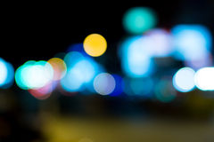 Night lights in city Royalty Free Stock Photography
