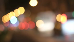 Night lights stock video footage