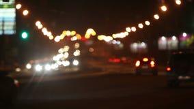 Night lights of city. Video night lights of city stock video