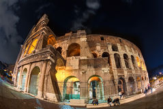Night lights of the Colosseum. Stock Image