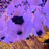 Night lights designs. Ceiling lights decor art display night designs royalty free stock photos