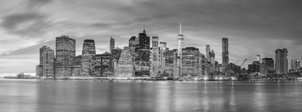 Night  Lights of Famous Manhattan Skylines, New York Royalty Free Stock Photo