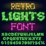 Night lights font Royalty Free Stock Photography