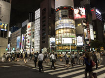 Night lights in Ginza, Tokyo Royalty Free Stock Image