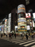 Night lights in Ginza, Tokyo Stock Image