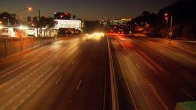 Night lights la road timelapse. Video of night lights la road timelapse stock video