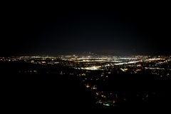 Night Lights Los Angeles Stock Photography