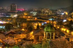 Night lights in Lovech Stock Image