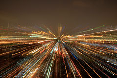 Night Lights in motion. Zoomed night Lights in motion Royalty Free Stock Photos