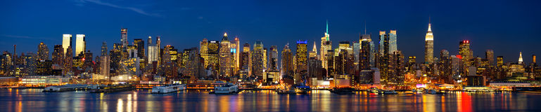 Night lights of New York Royalty Free Stock Image
