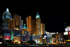 Night lights of New York of Vegas Stock Photos