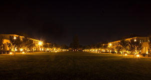 Night Lights in Park. Night Lights in buildings on either side of the park Stock Photography
