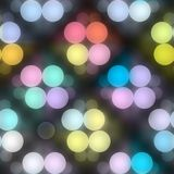 Night  lights pattern. Seamless texture of glowing colorful light dots Royalty Free Stock Photo