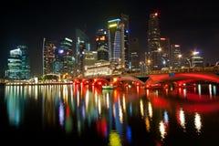 Night lights of Singapore Stock Photo