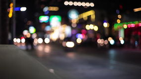 Night lights streak as we travel down a city street. Loop. stock footage