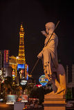Night lights on, Strip, Las Vegas Royalty Free Stock Photo