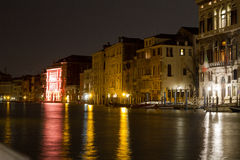 Night lights in Venice royalty free stock images