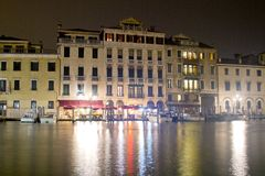 Night lights in Venice Royalty Free Stock Photo