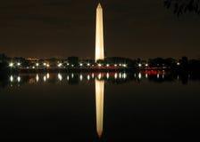 Washington Monument. America's Washington Monument illuminated at night Stock Images
