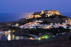 Night Lindos Stock Images