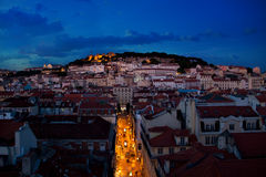 Night in Lisbon Stock Image
