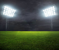 Night-lit stadium Royalty Free Stock Image