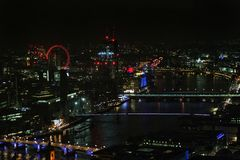 Night Londob. Amazing view to London in night. From Skygarden Royalty Free Stock Images
