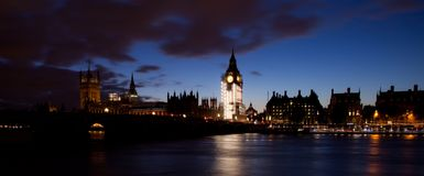Night at the London stock image