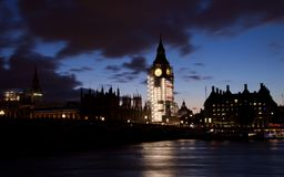 Night at the London royalty free stock photography
