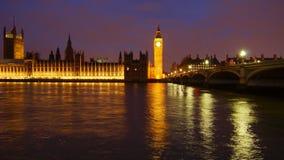 Night London stock footage