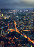 Night London, view from shard Stock Photos