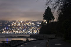 Night long exposure city shot with city lights Stock Photography