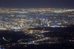 Night Los Angeles downtown scene Royalty Free Stock Photos