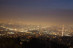 Night of Los Angeles - panorama Stock Photography