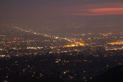 Night of Los Angeles - panorama Royalty Free Stock Image