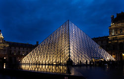 Night of the Louvre Stock Photos