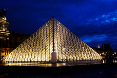 Night of the Louvre Stock Image