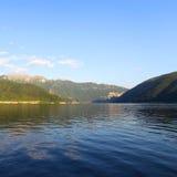 Night lugano lake landscape Royalty Free Stock Photos