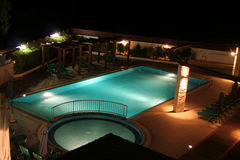 Night luxury. A swimming pool by night Stock Photo