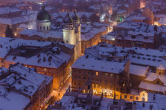 Night Lviv Stock Photography