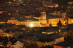Night Lviv Stock Photo