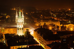 Night Lviv Stock Photos