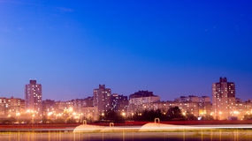 Night M9 road Minsk Stock Photography