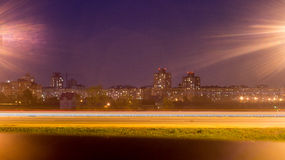 Night M9 road Minsk Royalty Free Stock Photo