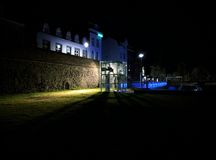 Night in Maastricht, Netherlands. Nighttime in the Stadspark of historic Maastricht Royalty Free Stock Image