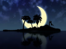 Night magic island Royalty Free Stock Photo